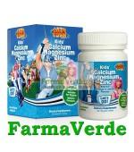 LazyTown Kids' Calcium Magnesium Zinc 60 cpr Lysi Saga Sanatate