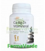 Ca-Mg-Zn Vitamineral 60 comprimate Alevia