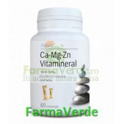 Ca-Mg-Zn Vitamineral 60 comprimate Alevia