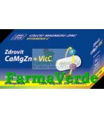 Zdrovit CALCIU-MAGNEZIU-ZINC-VITAMINA C 50 cpr