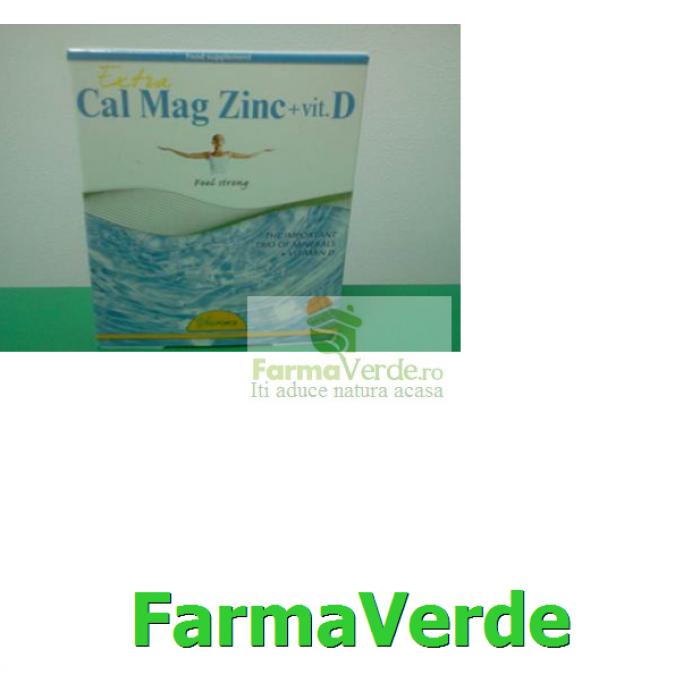 Cal Mag Zinc+Vit D 30 cpr Vita Force