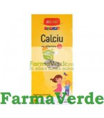 Bioland Junior Calciu cu Vitamina D3 cacao 20 comprimate Biofarm