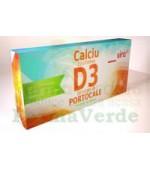Calciu cu Vitamina D3 Forte Diverse Arome 20 cpr masticabile Sun