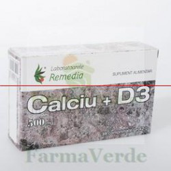 CALCIU+D3 500 mg 30 Comprimate Remedia