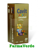 Biofarm Cavit Junior Ciocolata 20 tablete