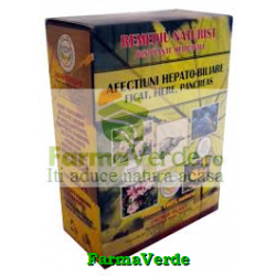 Ceai pentru Afectiuni Hepato-Biliare 180 g Faunus Plant