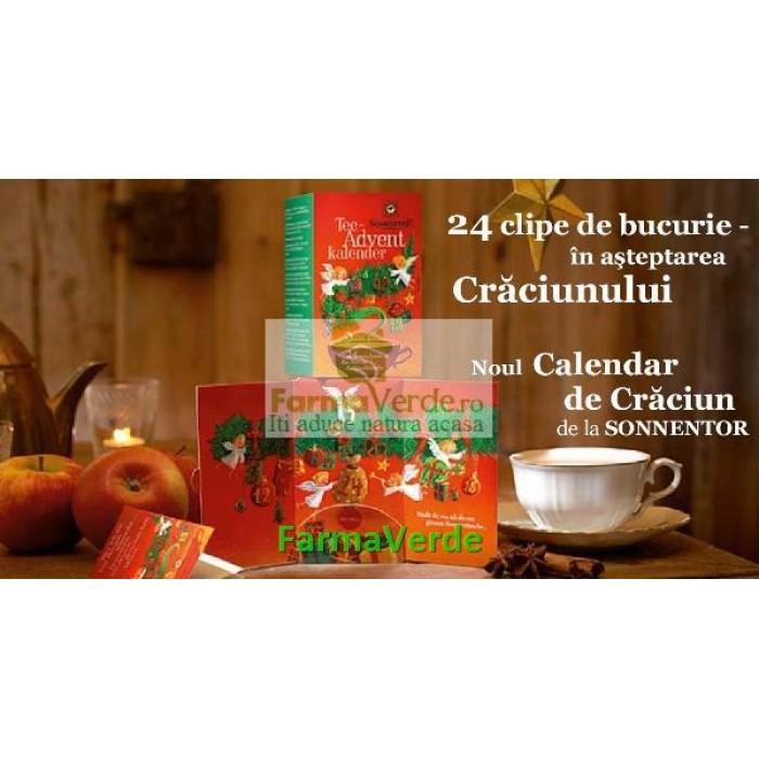 Ceai Calendar de Craciun 24 doze Sonnentor