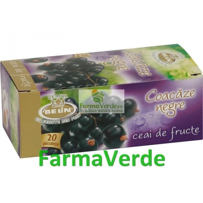 Ceai Coacaze Negre 20 pliculete 2g Belin Nova Plus