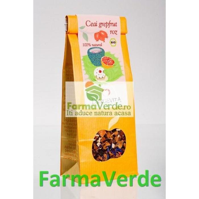 Ceai Grapefruit Roz 70Gr Bio Longevita Solaris Plant