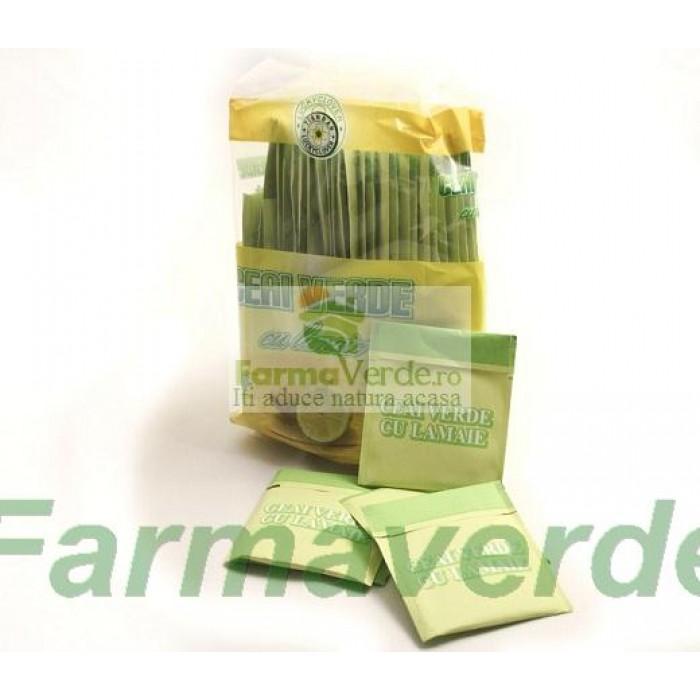 Ceai Verde cu Lamaie la Plic ( 50 x 2,5 gr) Sanye