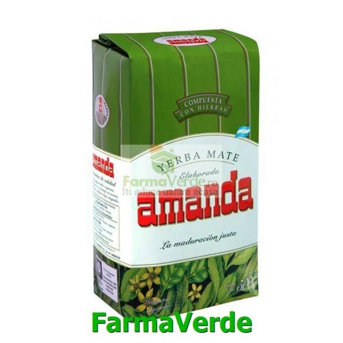 Ceai Mate cu plante medicinale 500gr Adams Vision