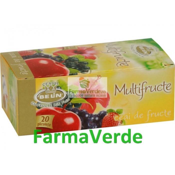 Ceai Multifructe 20 pliculete 2g Belin Nova Plus