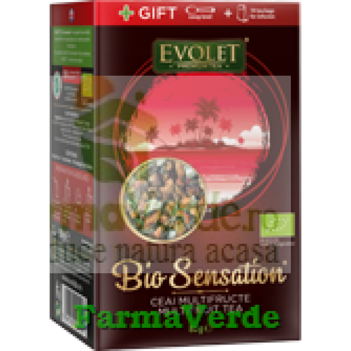 Ceai Multifructe Bio Sensation Evolet 80 gr Vedda Kalpo