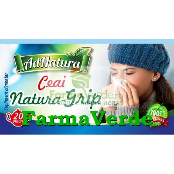 Ceai Natura Grip 20 plicuri Adnatura Adserv