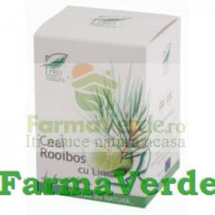 Ceai Rooibos cu Lime 20 doze Medica ProNatura