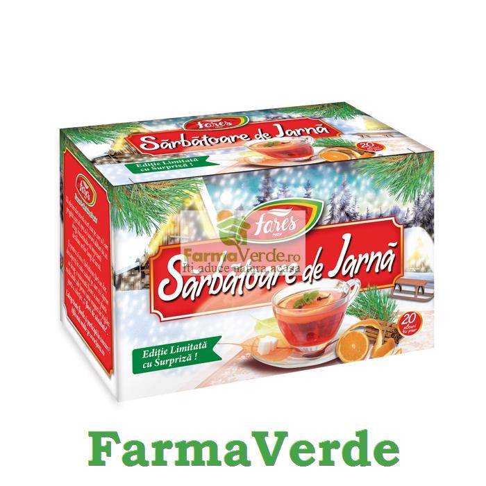 Ceai SARBATOARE DE IARNA 20 plicuri Fares