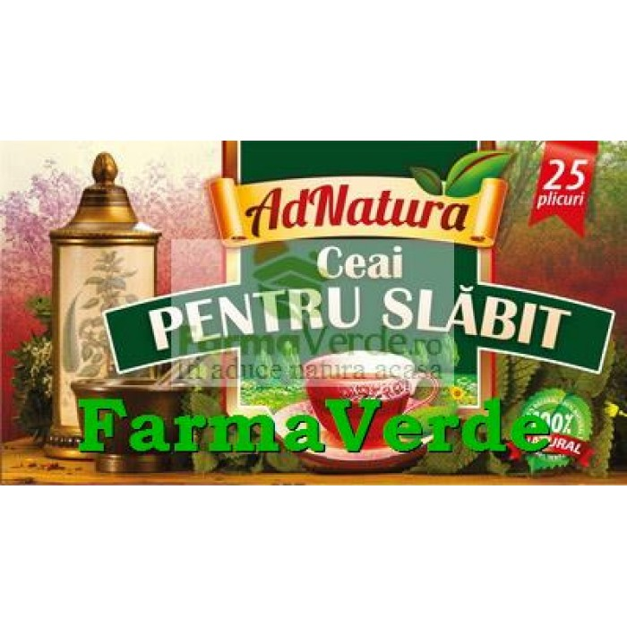 Ceai pentru Slabit 25 doze Adserv Adnatura