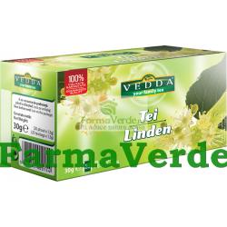 Ceai de Tei 1,5 gr 20 doze Vedda Kalpo