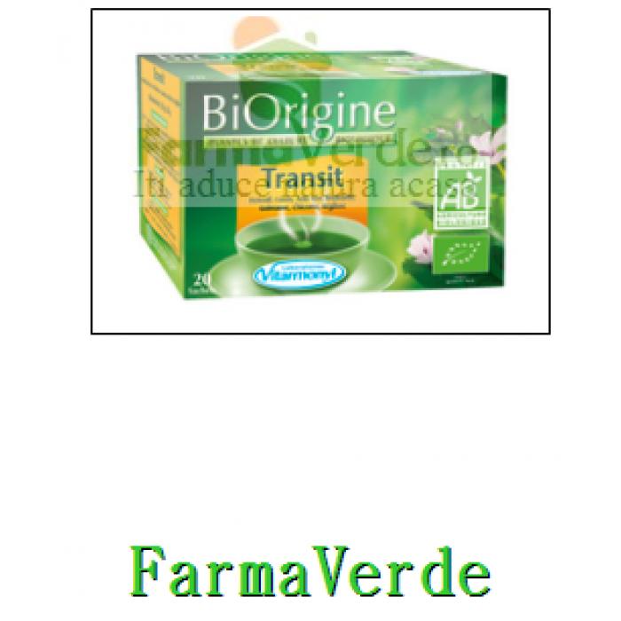 Ceai Bio Tranzit Constipatie 20 doze Vitarmonyl