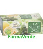 Ceai Verde cu Aroma de Lamaie 20 pliculete 2g Belin Nova Plus