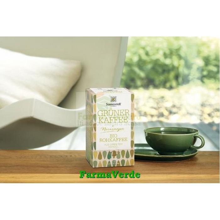 Cafea Verde Raw Nicaragua 18 plicuri BIO Sonnentor