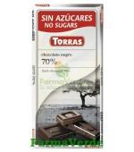 Torras ciocolata neagra 70% Cacao 100 gr