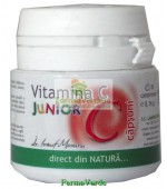 Vitamina C Junior aroma capsuni 20 cpr Medica Pronatura