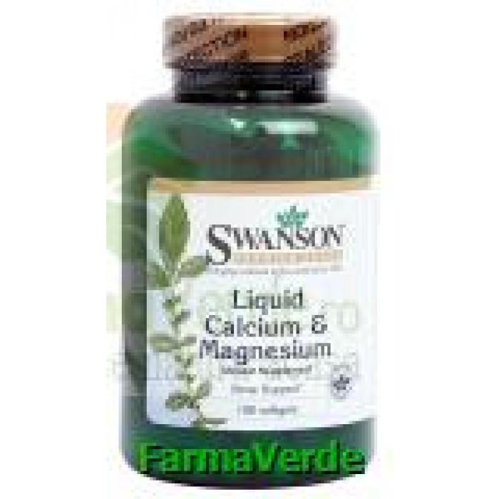 Calciu lichid cu magneziu 100 capsule Vitaking