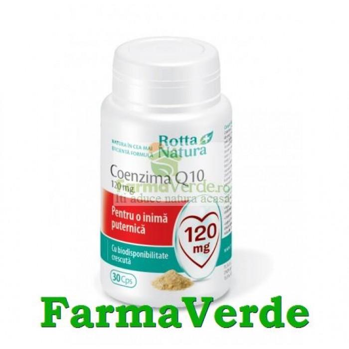 Coenzima Q 10 120 mg 30 capsule Rotta Natura