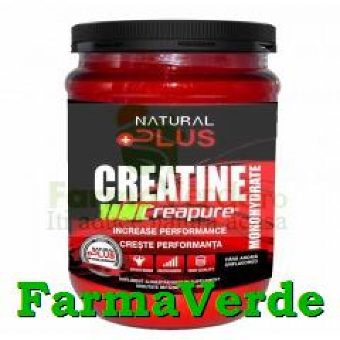 CREATINA Monohidrata Pulbere 900 gr Natural Plus