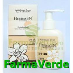 Crema antirid cu ulei de argan si unt de shea SPF 30 Herbagen