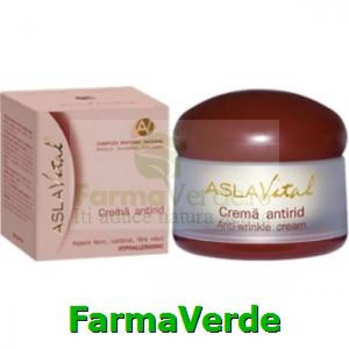 Crema antirid Argila,Ginseng, Colagen 50ml Aslavital Farmec