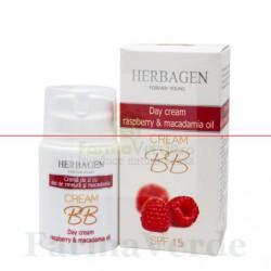 Crema BB zi cu ulei de zmeura si macademia 50 gr Herbagen