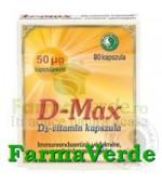 D-Max Vitamina D 80 capsule Mixt Com