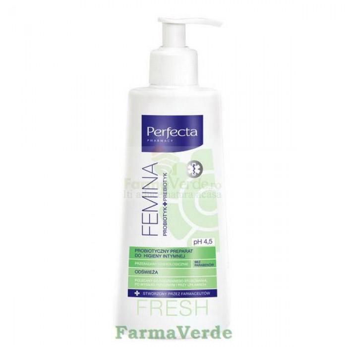 Perfecta Femina FRESH Gel igiena intima cu Probiotice 300 ml