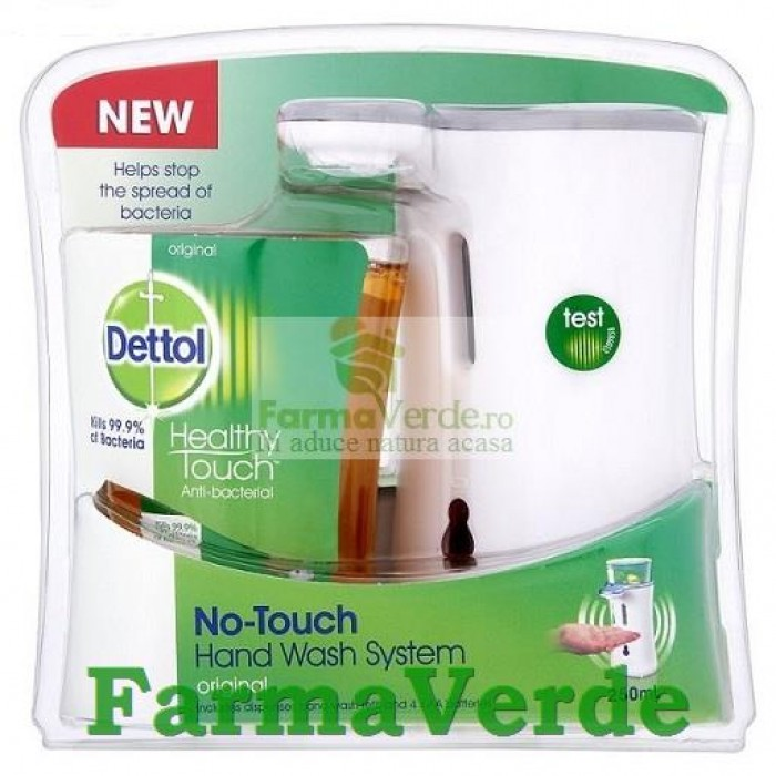 DETTOL No Touch Dispenser automat cu senzor pentru sapun lichid