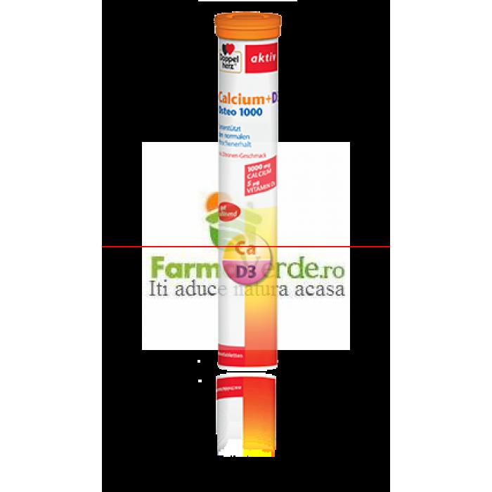 Doppelherz Aktiv Calciu + Vitamina D3 Osteo 1000 15 cpr eff