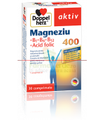 Doppelherz aktiv Magneziu 400MG + B1 + B6 + B12 + Acid folic 30 cpr