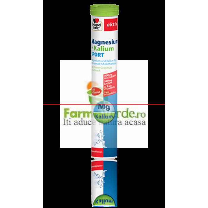 Doppelherz Magneziu+Potasiu Sport 15 comprimate effervescente