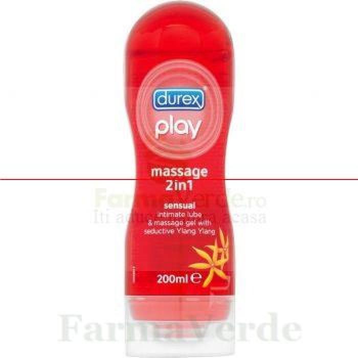 Durex Play Gel Masaj 2 in1 Senzual Lubrifiant 200 gr