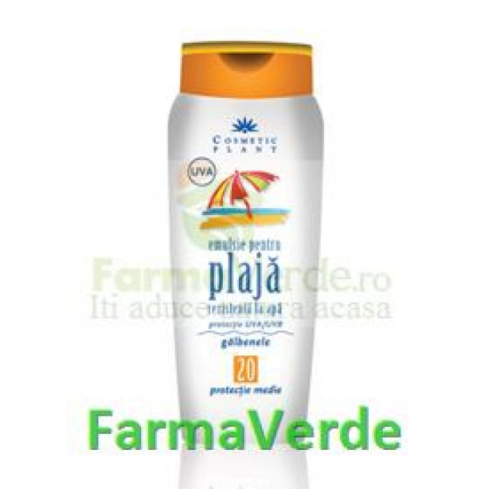 Emulsie plaja rezistenta apa Galbenele FP20 Cosmetic Plant