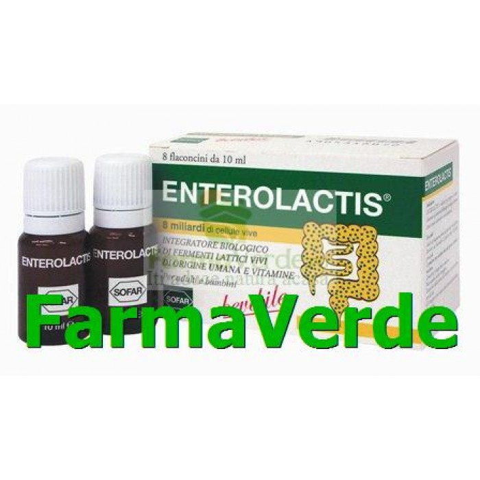 Enterolactis Buvabil 8 flacoane ideal pentru copii peste 2 ani