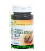 Papaya Enzime Plus 90 tablete masticabile Vitaking