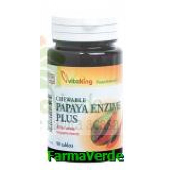 Papaya Enzime Plus 90 tablete masticabile Vitaking