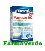 Eurovita Magneziu+C+E 400 mg 20 cpr efervescente Europharm