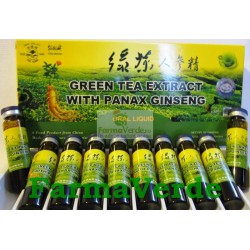 Extract de Ceai Verde si Panax Ginseng 10 fiole 10 ml Sanye L&L