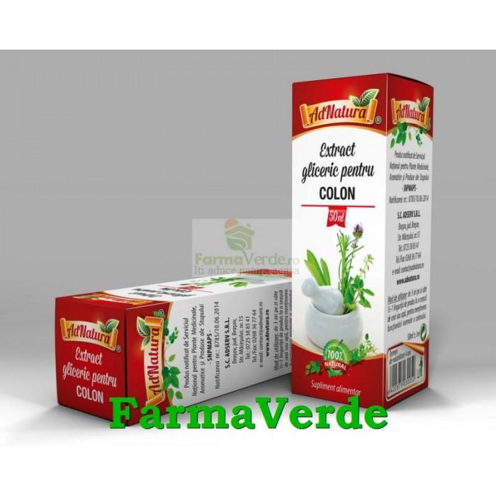 Extract gliceric pentru COLON 50 ml Adnatura Adserv