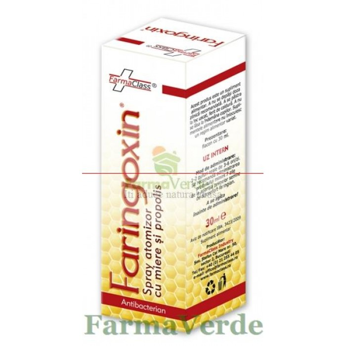 Faringoxin Spray Miere+Propolis 30 ml FarmaClass