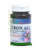 Fier cu vitamina B si C 100 comprimate Vitaking