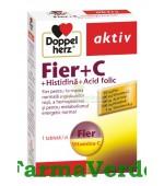 Doppelherz Aktiv Fier + C + Histidina + Acid folic 30 tablete